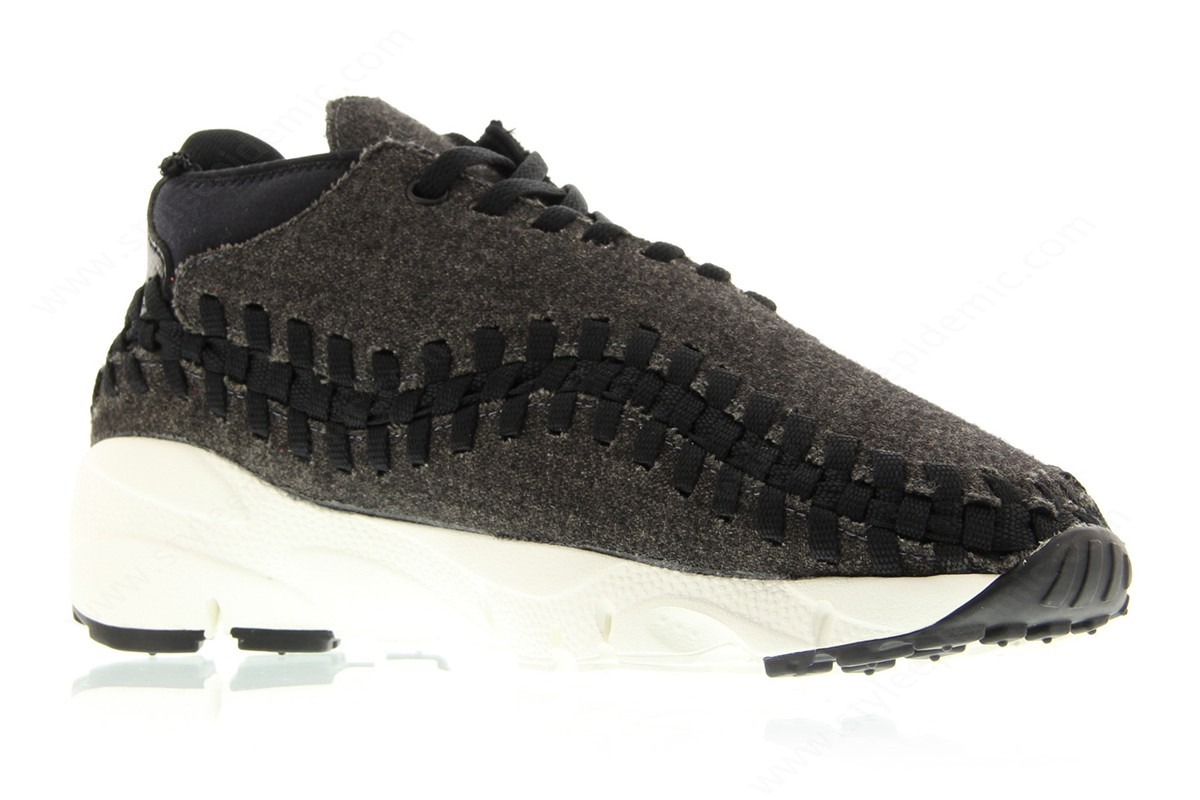 Man Nike Air Footscape Woven Chukka Se Black/black-Ivory - -2