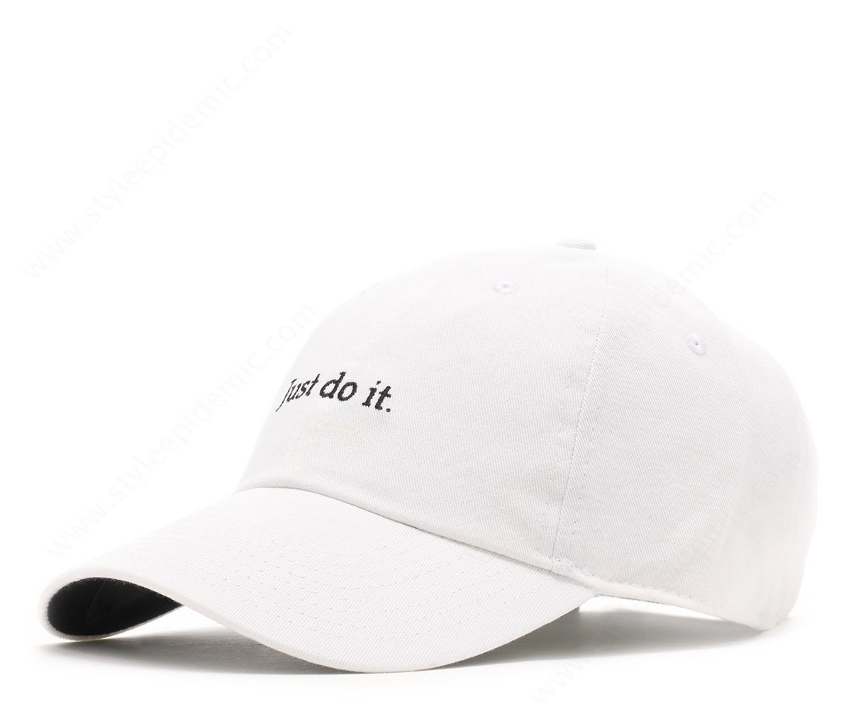 "Mens Nike H86 Hat ""just Do It"" White/black/black - -0"