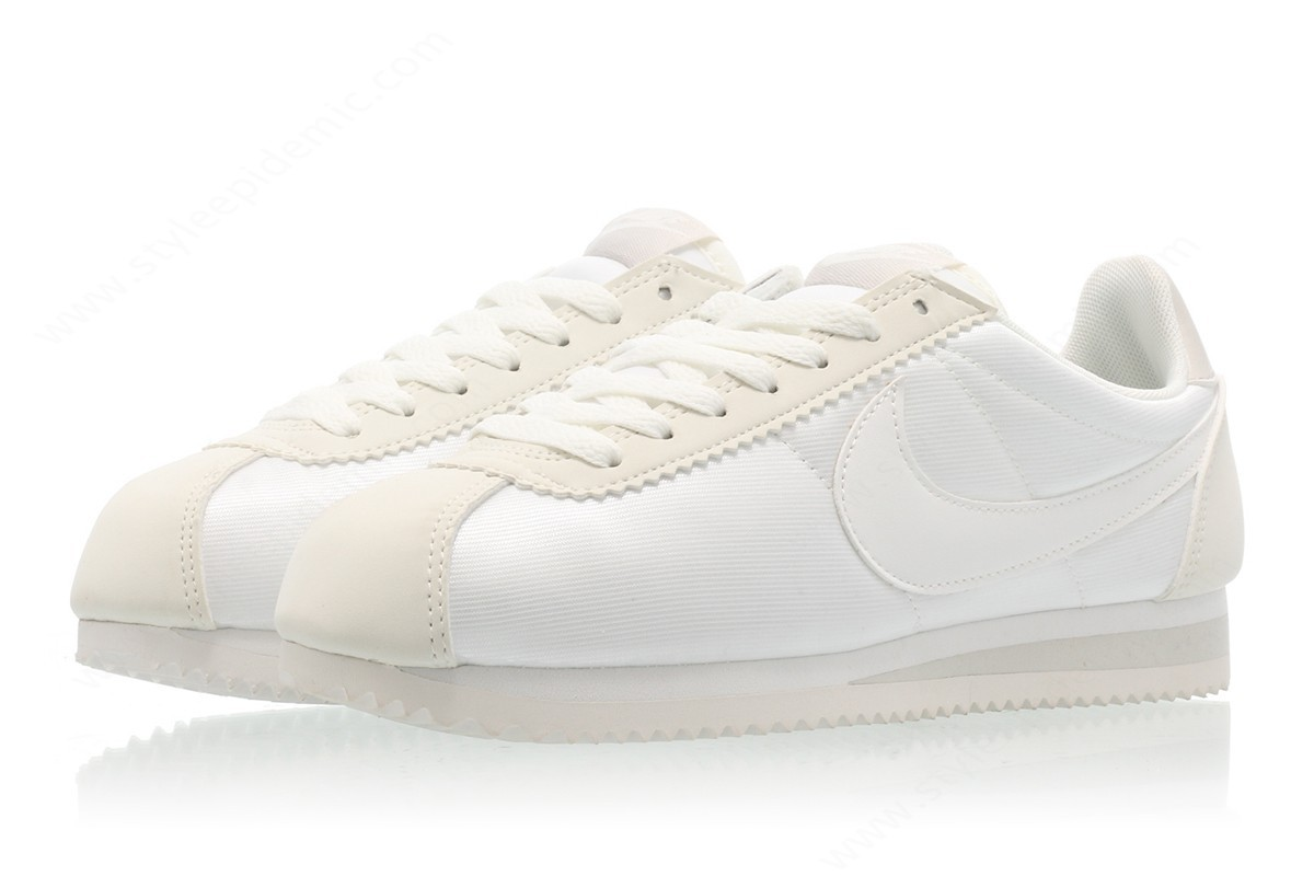Womens Nike Wmns Classic Cortez Nylon Ivory/ivory-Light Bone-Summit White - -3