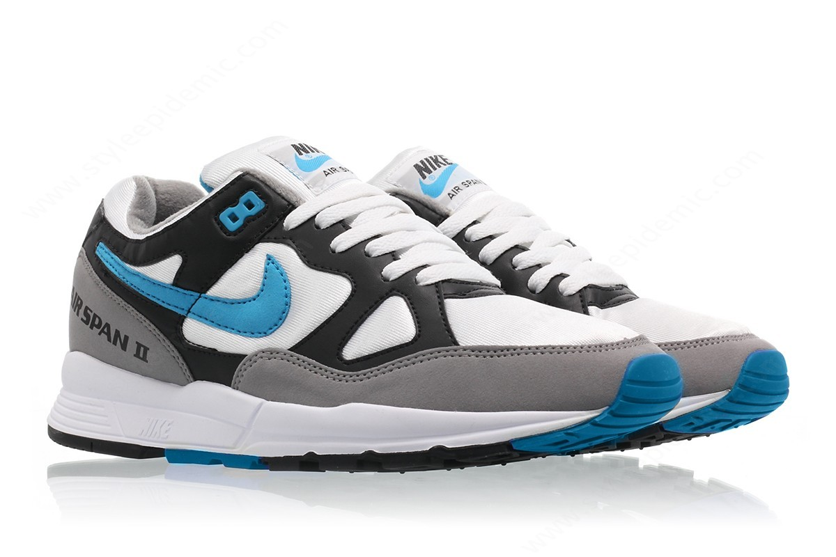 Man Nike Nike Air Span Ii Black/laser Blue-Dust-White - -2