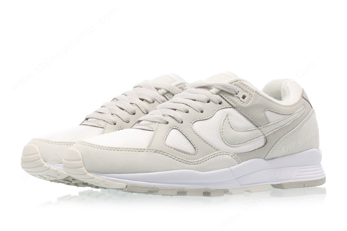 Men Nike Nike Air Span Ii Summit White/light Bone-White - -3