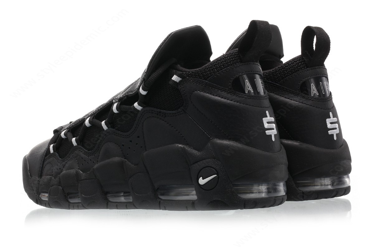 Men Nike Air More Money Black/metallic Silver-Black - -1