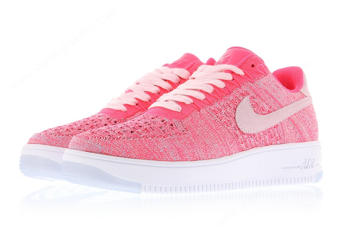 Womens Nike Wmns Air Force Flyknit Low Prism Pink/prism Pink-Racer Pink - -2