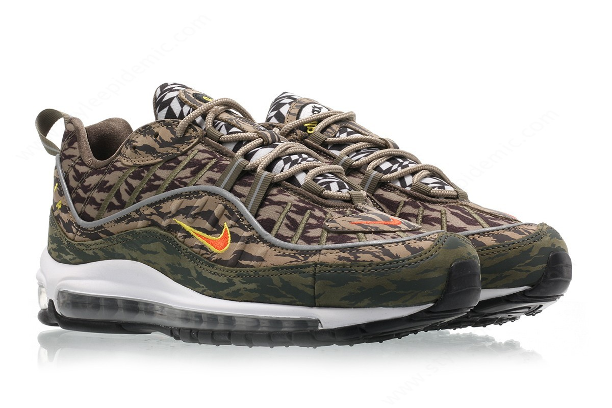Man Nike Air Max Aop Khaki/team Orange-Medium Olive - -2