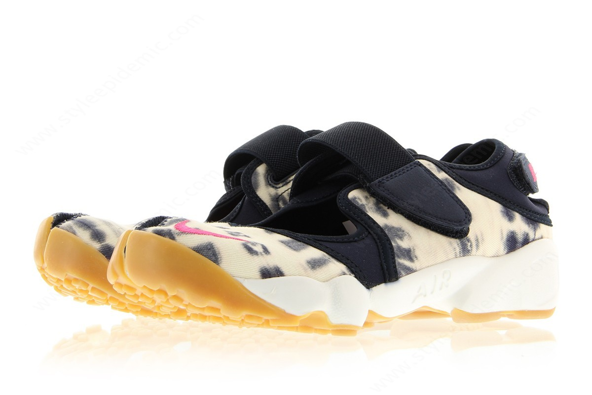 Women Nike Wmns Air Rift Premium Quickstrike Dark Obsidian/vivid Pink-Summit White - -3