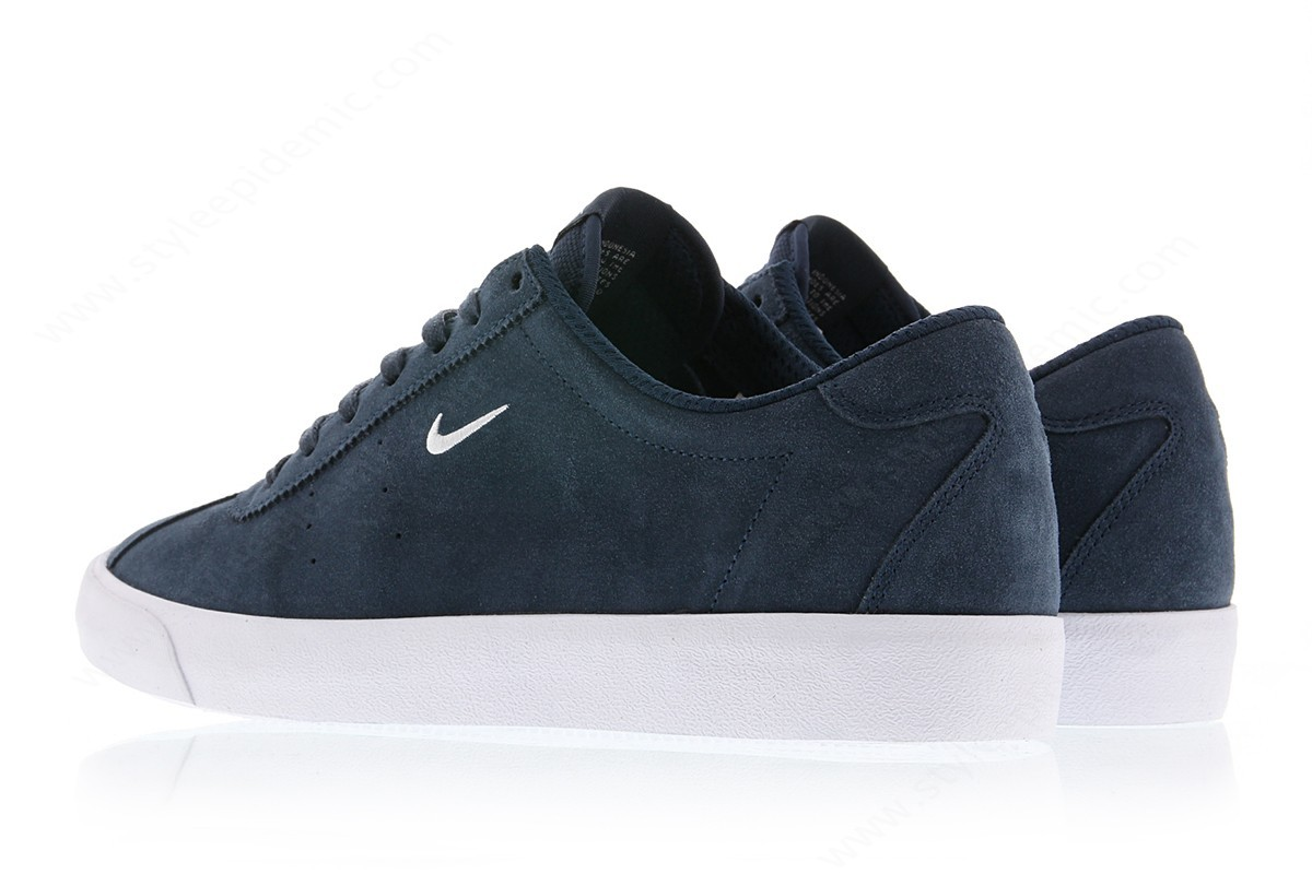 Men Nike Match Classic Suede Armory Navy/white - -1