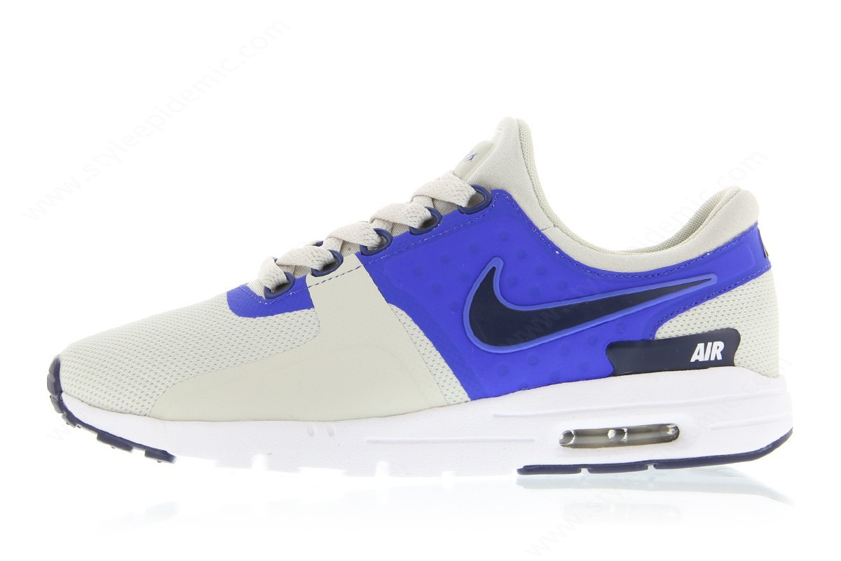 Women Nike Wmns Air Max Zero Light Bone/binary Blue-Paramount Blue - Women Nike Wmns Air Max Zero Light Bone/binary Blue-Paramount Blue