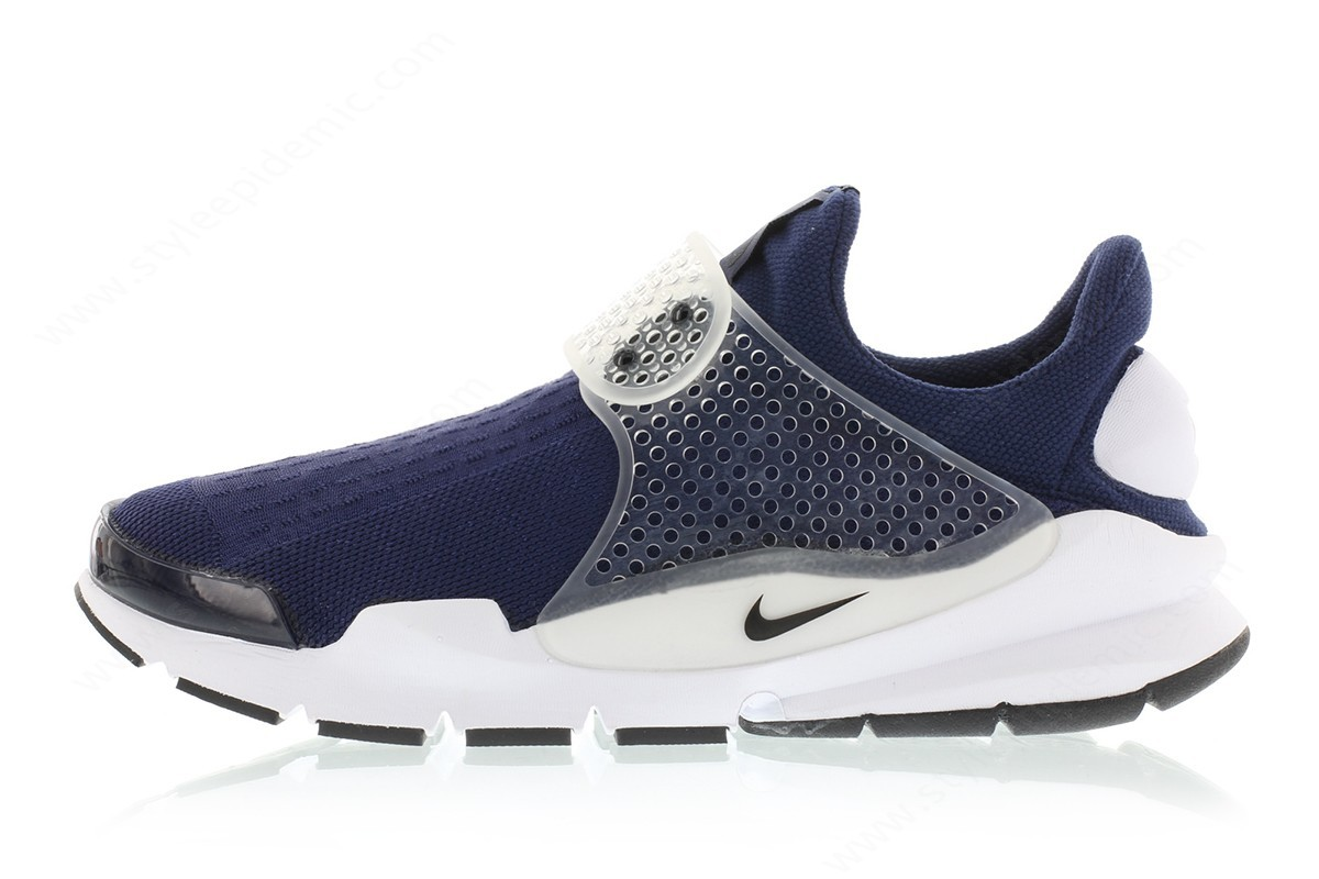 Men Nike Sock Dart Mid Navy/black-Medium Grey-White - Men Nike Sock Dart Mid Navy/black-Medium Grey-White