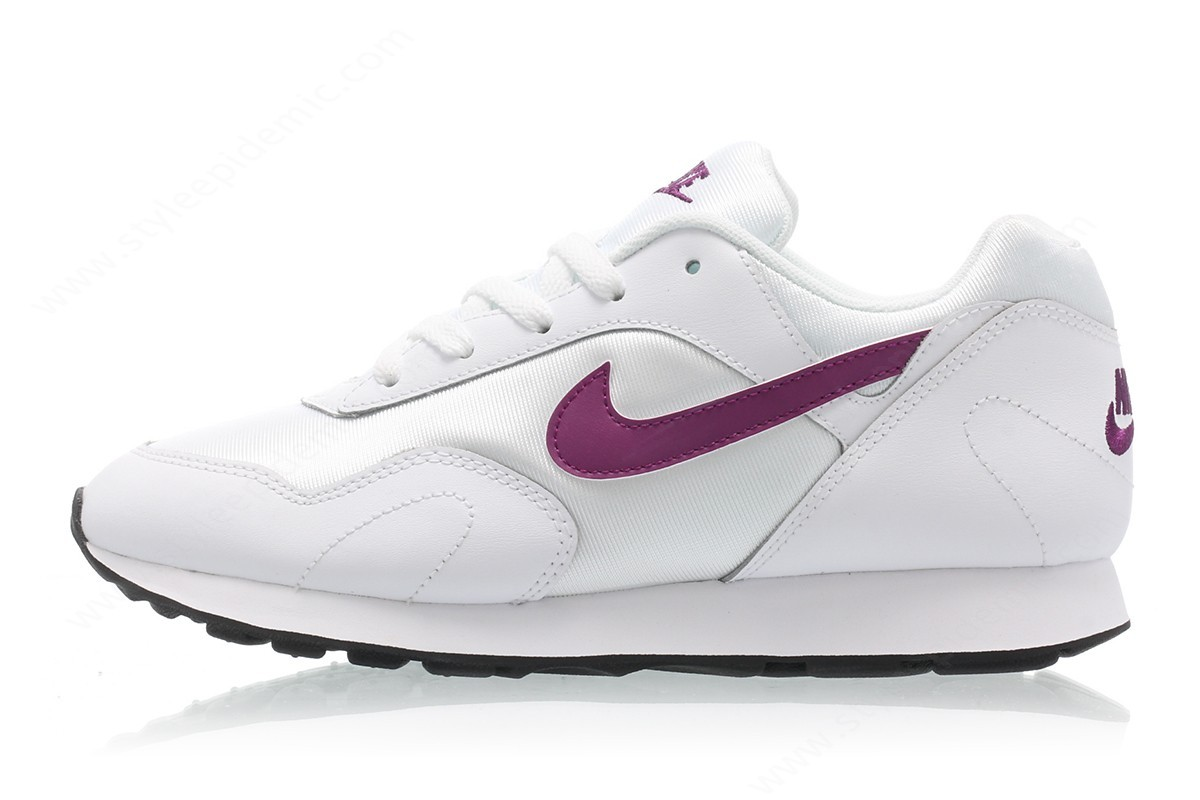 Women Nike Wmns Outburst White/bright Grape-Black - Women Nike Wmns Outburst White/bright Grape-Black