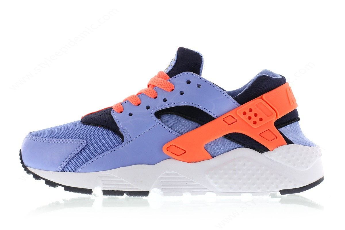 Womens Nike Huarache Run (Gs) Chalk Blue/bright Mango-Obsidian-Canary - Womens Nike Huarache Run (Gs) Chalk Blue/bright Mango-Obsidian-Canary