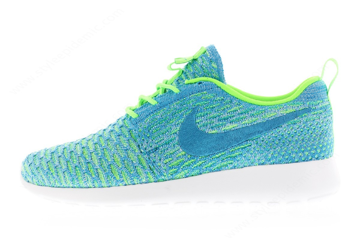 Lady Nike Wmns Roshe One Flyknit Electric Green/blue Lagoon/glacier Ice - Lady Nike Wmns Roshe One Flyknit Electric Green/blue Lagoon/glacier Ice