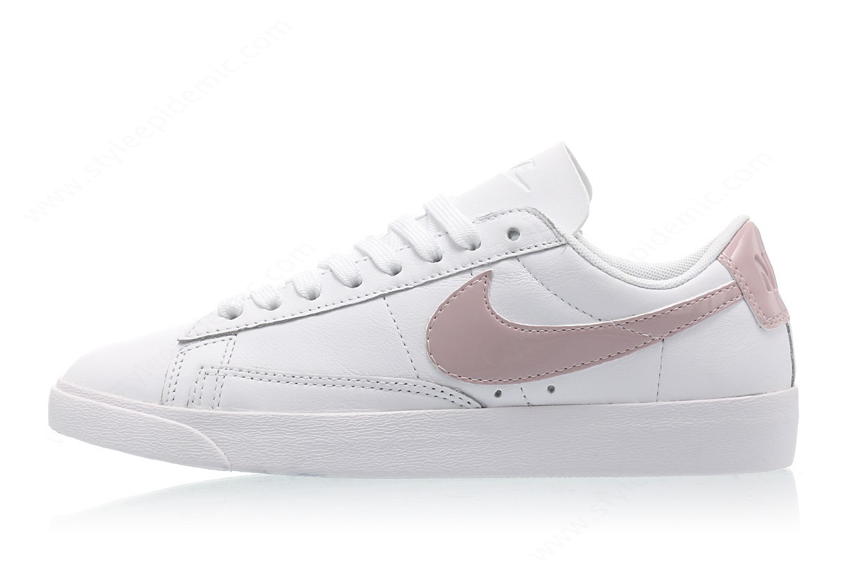 Womens Nike Wmns Blazer Low Le White/particle Rose-White - Womens Nike Wmns Blazer Low Le White/particle Rose-White