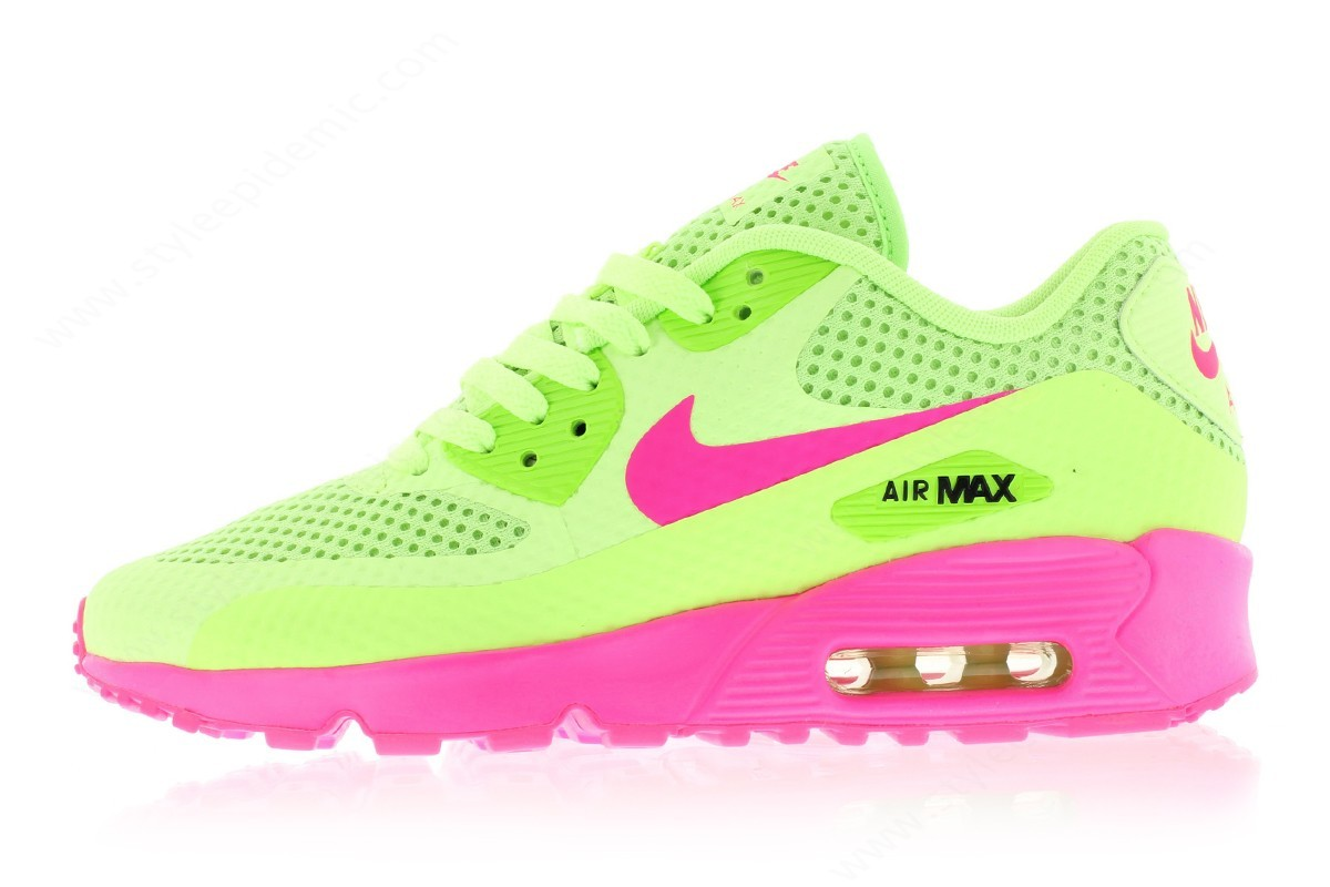Lady Nike Air Max Breeze (Gs) Ghost Green/pink Blast-Black - Lady Nike Air Max Breeze (Gs) Ghost Green/pink Blast-Black